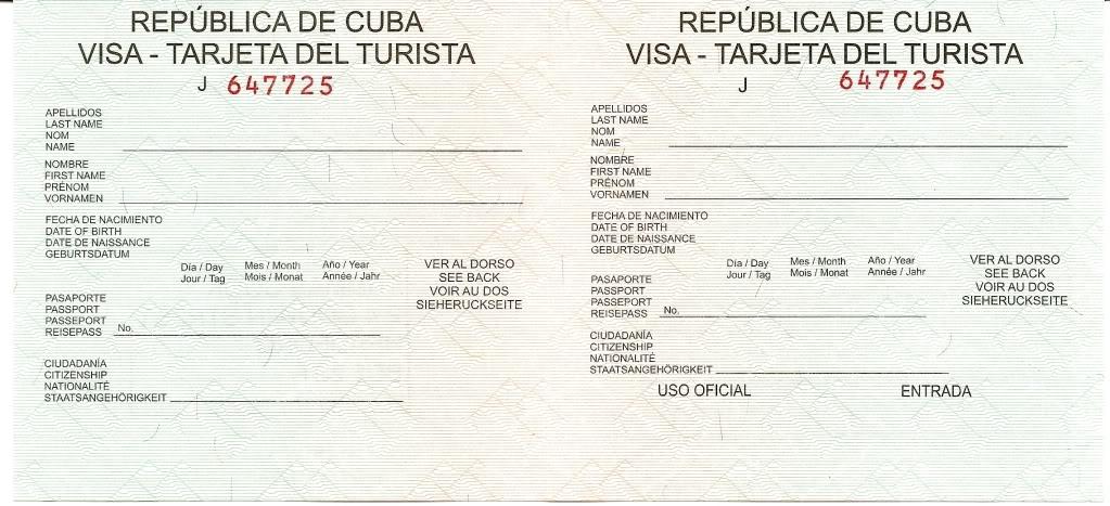Tarjeta de Turista - FFV EN